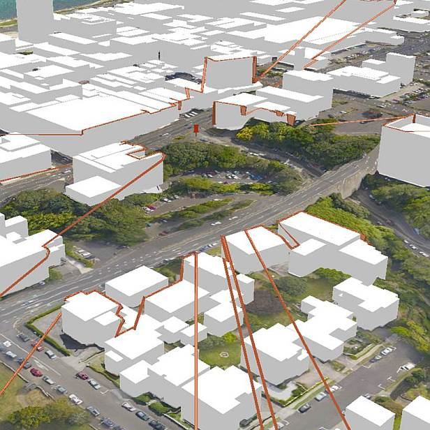 3D data capture and modelling of the New Plymouth CBD